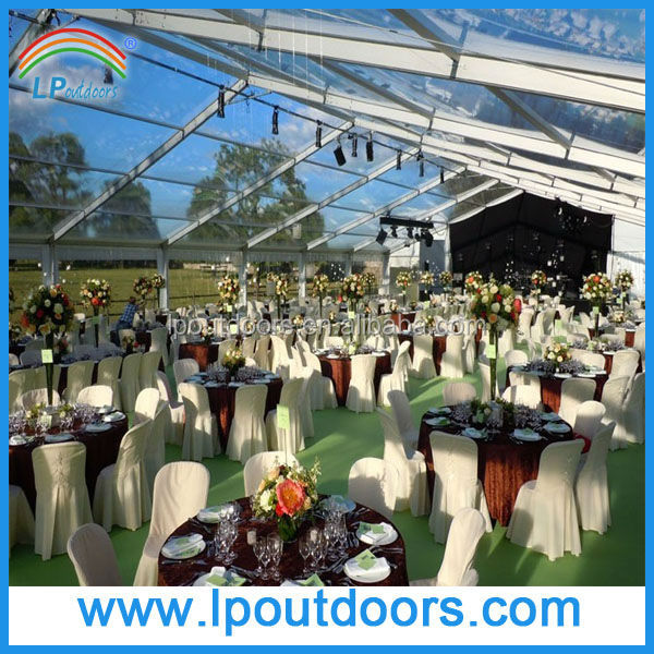 Outdoor luxury clear span wedding marquee transparent party tent for sale