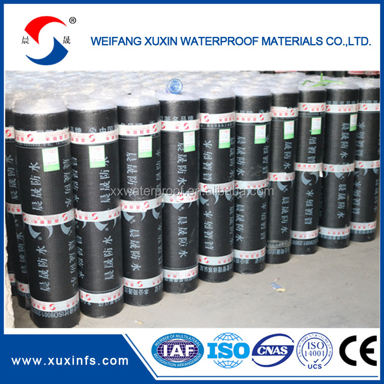SBS Modified bitumen waterproofing material for a long service life