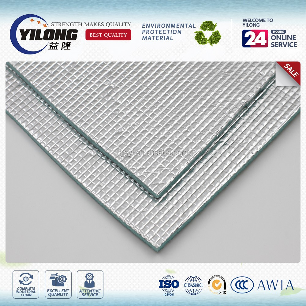 alcan aluminum rock wool foil backed foam underlay aluminum foil epe foam insulation