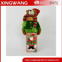 xingwang crafts toy factory cute christmas bear design candy christmas gift paper box