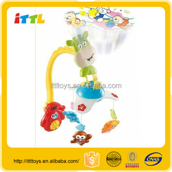 CE approval baby toys for sale musical baby mobile with projector plastic musical mobile for baby