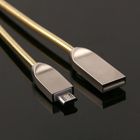 Stainless steel flexible spring USB charging cables