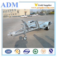 1500X2400 hot dip galvanized rail motorcycle trailer