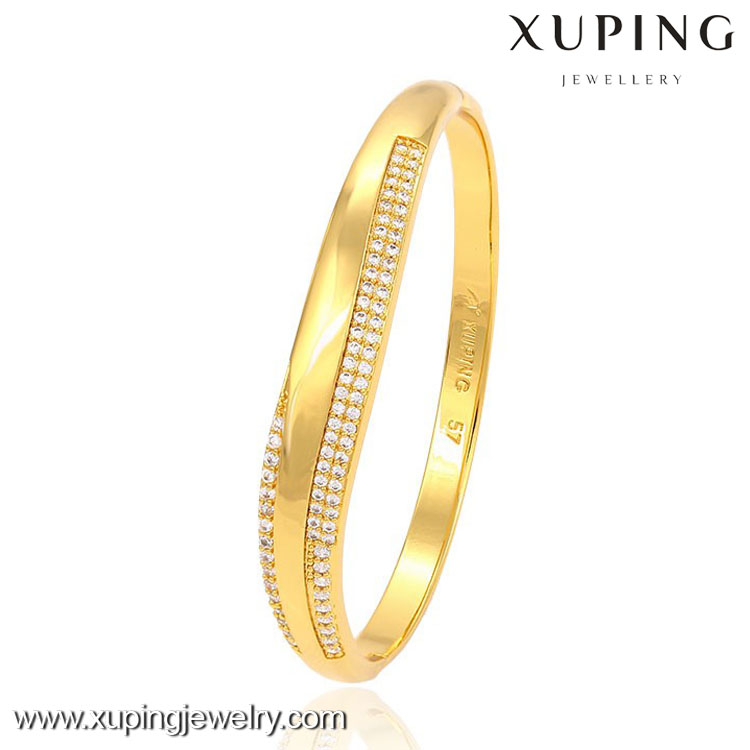 51408 xuping 24k gold filled copper alloy imitation fashion jewellery bangle for women