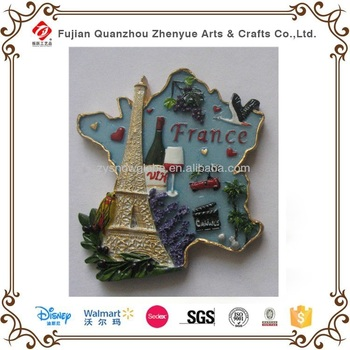 Cheap custom 3d Landscape Fridge Magnets,Trip souvenir magnet of France