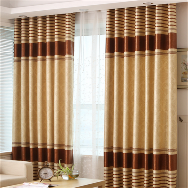 Hot sell voile window curtain emboss blackout fabric curtain