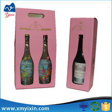 Wholesale corrugated seasonal wine packaging box with handle