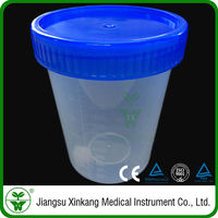 Cheap transparent 250ml urine cup/container with screw cap