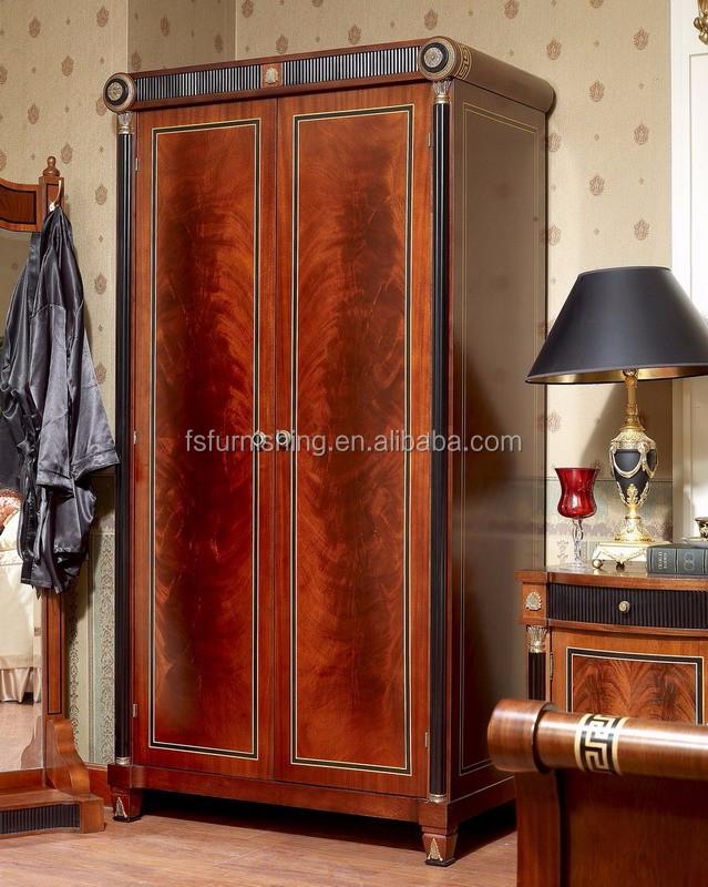 YB10 Italy Traditional Antique Mahogany King Size Master Bedroom Set Royal  Solid Wood Villa Bedroom Furniture