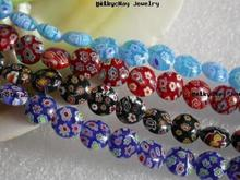 new crystal glass beads factory wholesale millefiori glass beads 18438