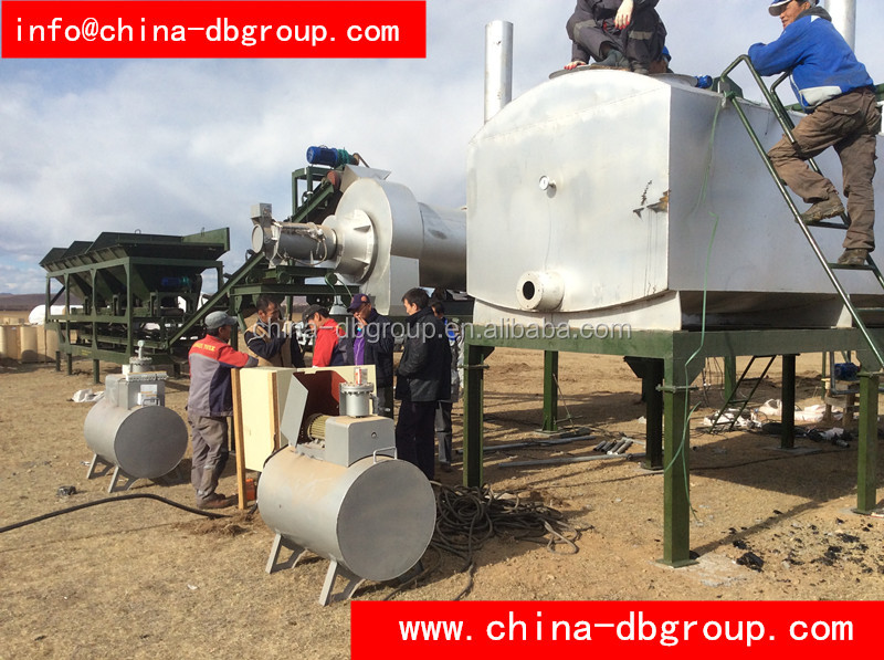 DHB20 Hot products Poatable Mobile Asphalt Mixing plant Price 10t/h