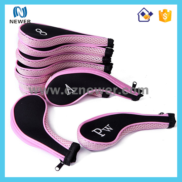 Wholesale Zippered Neoprene Golf Club Head Covers