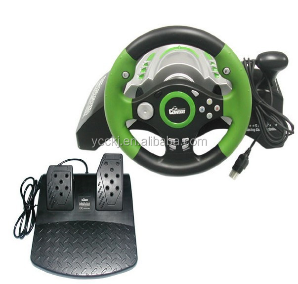 2014 hot selling high quality video game 3 in 1 steering wheel joystick for pc ps2 ps3 alibaba website
