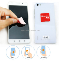 Laser Cutting Silicone Sticky Mobile Screen Cleaner Sticker