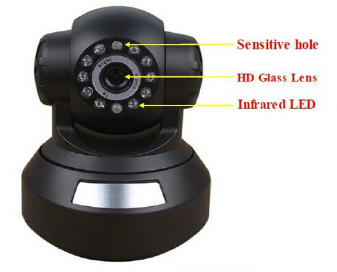 Easy set up P2P wifi 720P HD PT ip camera
