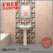 Foshan tile used bathroom tile glass mosaic for swimming pool tile,25 years factory&exporting experience