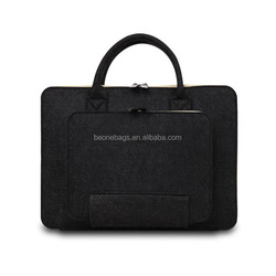 Shock-proof Felt Tablet Bag Tote with Front Small Pouch Bag
