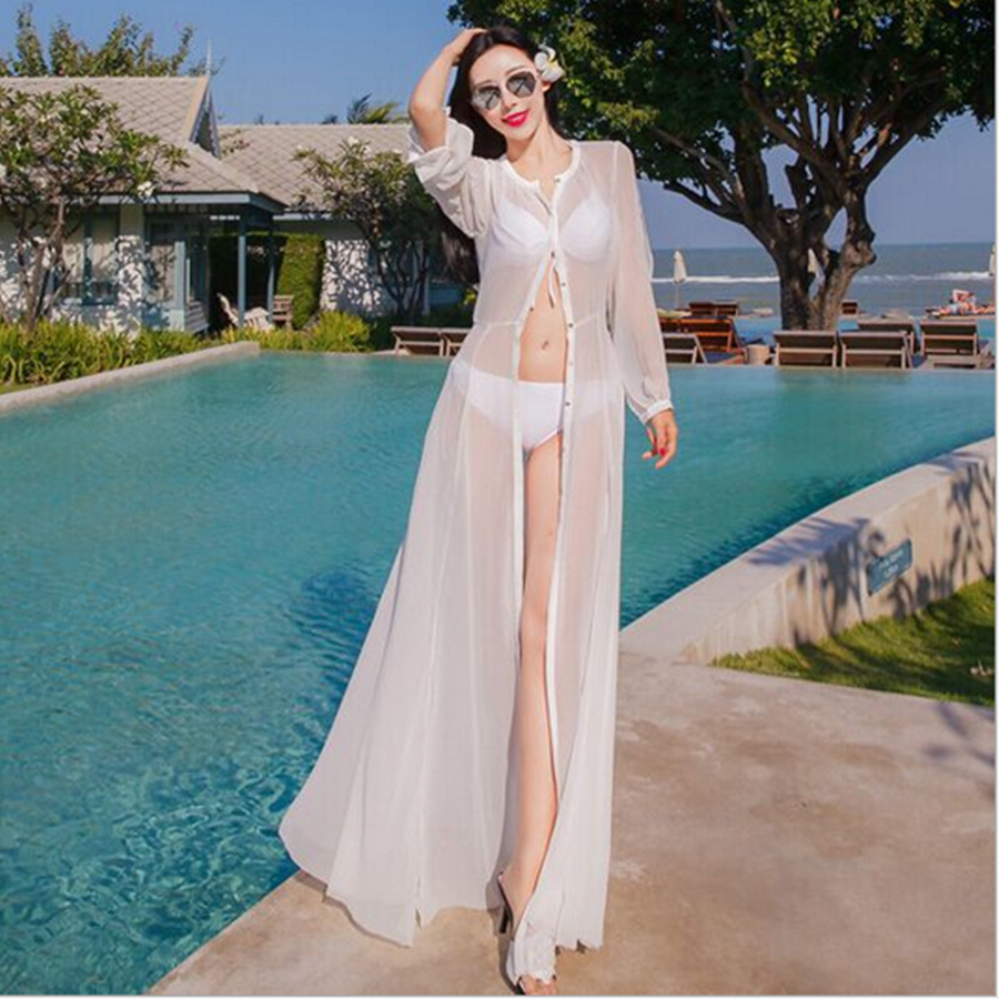 woman casual sexy sun block cover up beach dress