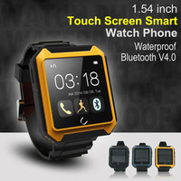 popular Bluetooth Watch ,1.54 inch Touch Screen Smart Watch Phone ,waterproof bluetooth V4.0 smart phone