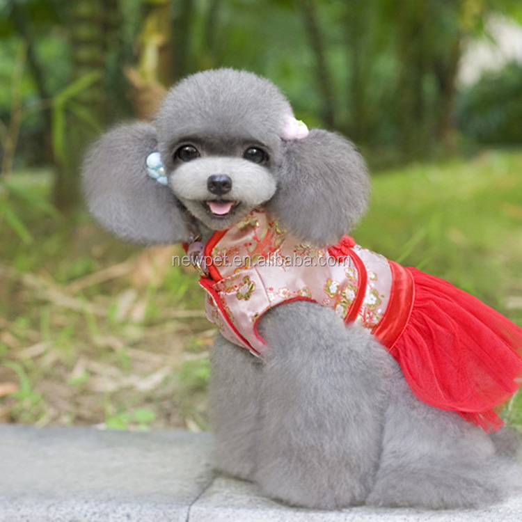 Excellent quality attractive fashionl chinese pet clothes traditional design of dog dress
