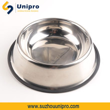 polished and not embossed 24OZ stainless steel dog bowl private label pet products