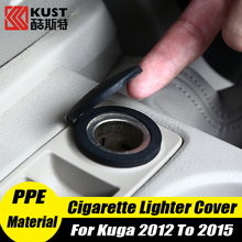 KUST PPE Waterproof Car Cigarette Lighter Cover For Kugas 2012 To 2015 Protective Cigar Lighter Cap For Escape For Ford