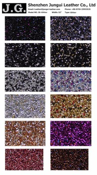 wholesale bulk gltter leather fabric,color glitter leather fabric