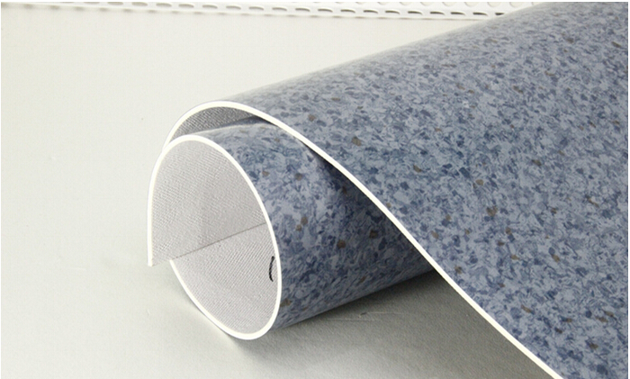 heterogeneous pvc sponge vinyl sheet flooring