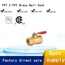 Chrome-Plated Forged Brass Welding Small Female Gas Ball Valve
