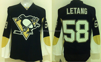 Kristopher Letang #58 Pittsburgh Penguins National Ice Hockey Jersey