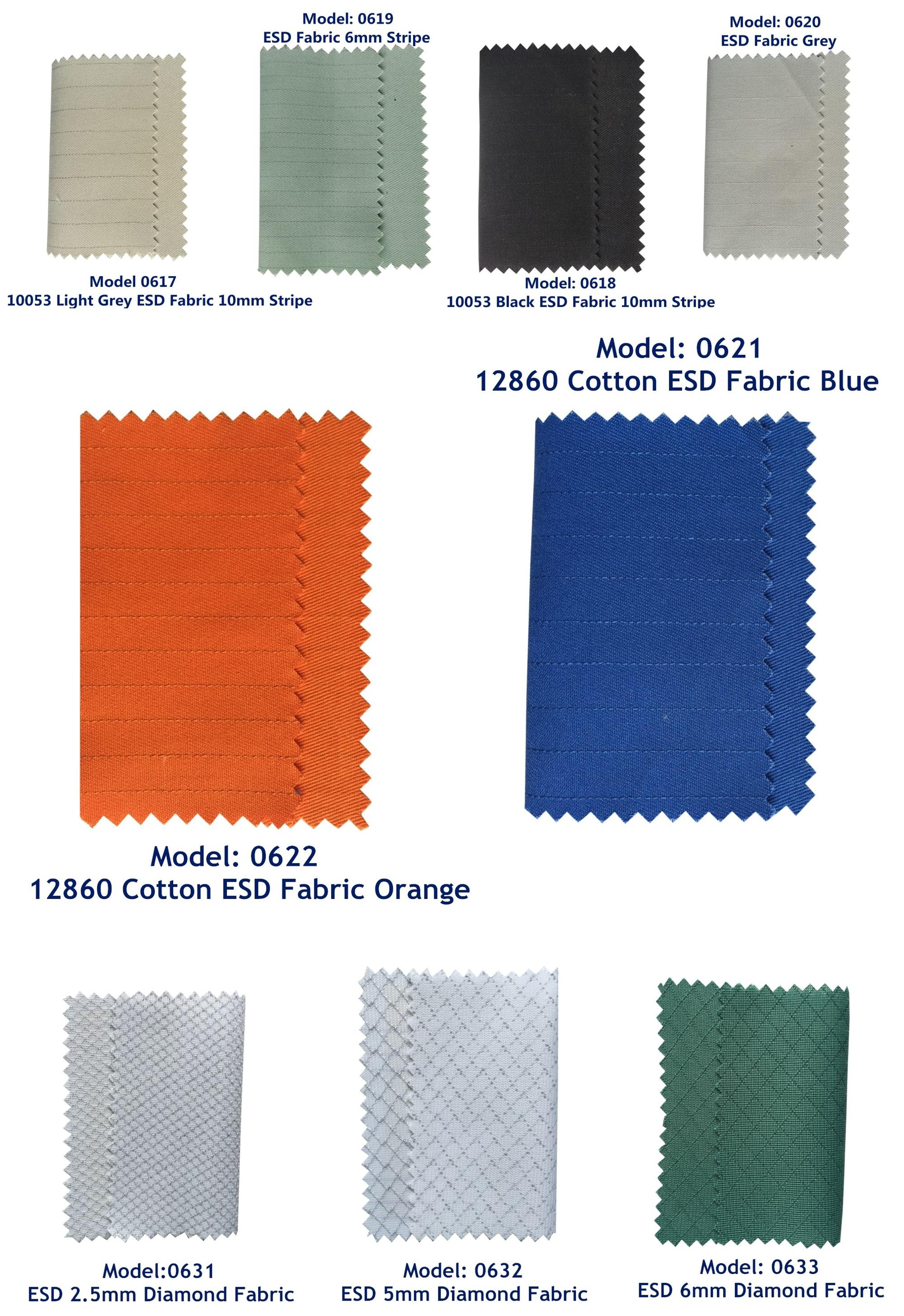 Antistatic 2.5mm Grid ESD Fabric Polyester 1/2 Twill