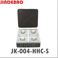 Euro Type color coating and stainless steel 4 Burner gas stove JK-004HHC-S