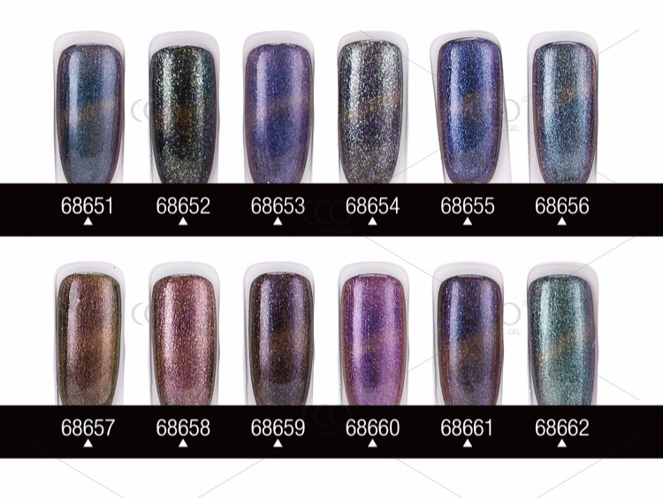 CCO Hot Sale Wholesale Natural CCO Cats Eye Gel Nail Polish 36 Colours Green nail polish plastic