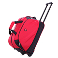 2017 Christmas Factory Wholesale Durable Nylon Large Travel Bag With Wheels