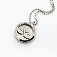 Stainless Steel Jewelry Lotus Essential Oil Aromatherapy Diffuser Pendant Locket