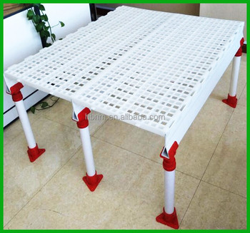 plastic, pure pp material and livestock type plastic slat floor for chicken farming