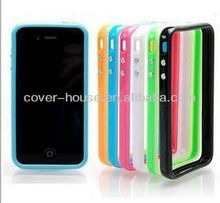 Colorful Silicone bumper case for iPhone 4 4S