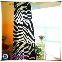 design curtain bottom price good quality inventory zebra stripes printing curtain