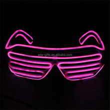 light up sound active el wire glasses party favor multi color led shutter glasses