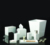 Modern Classy Glossy White Color Polyresin Bathroom Set for Home and Hotel