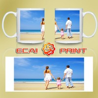 Custom made sublimation photo coffee mug