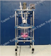 Cheapest low price Power-saving glass reactor with jacket in chemical