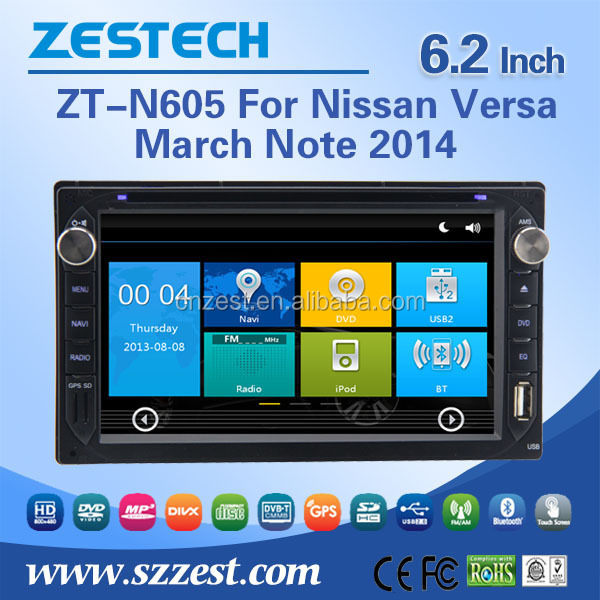 6.2 inch car dvd player for Nissan Versa March Note car multimedia 2 din car auto radio with GPS DVD A/V In/Out Multi-language