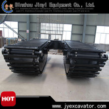 Floating Pontoon undercarriage with four Doosan motors for 30~40MT amphibious excavators