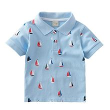 Wholesale fashion newborn baby clothes T-shirt 100% Cotton Baby denim polo shirts