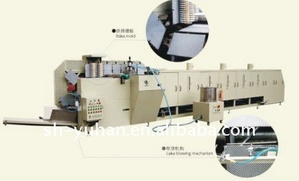 High capacity French crepes forming machine