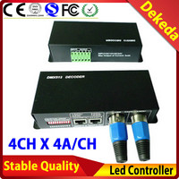 CE DC12-24V RGBW 4 channel dmx decoder