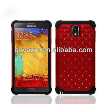 Case for samsung galaxy note 3 iii n9000 n9005,For samsung galaxy note3 dual layer shock proof back phone cover