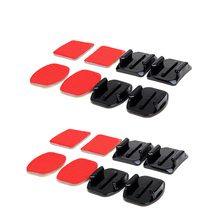 4pcs Flat and Curved Base Mount 3M VHB Stickers For GoPros Hero5 3 4 Session Mount Camera Accessories Set