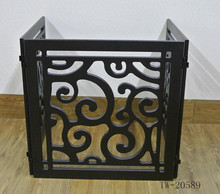 New arrival cutout design foldable fence dog wood pet gate